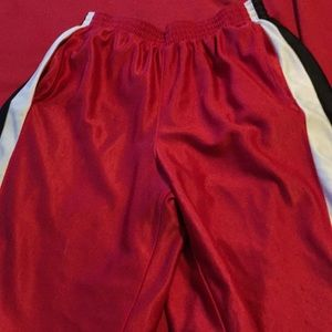 Red White and Black Basketball Shorts